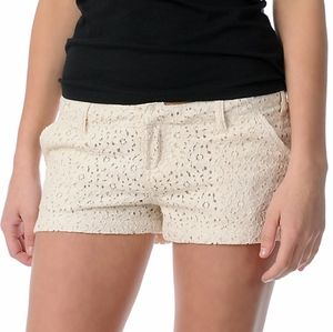 Volcom Cream Lace Shorts